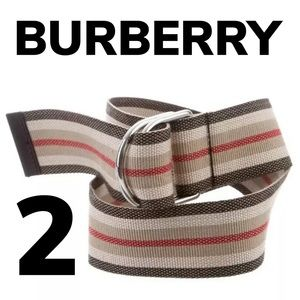 Burberry D Ring Canvas Belt